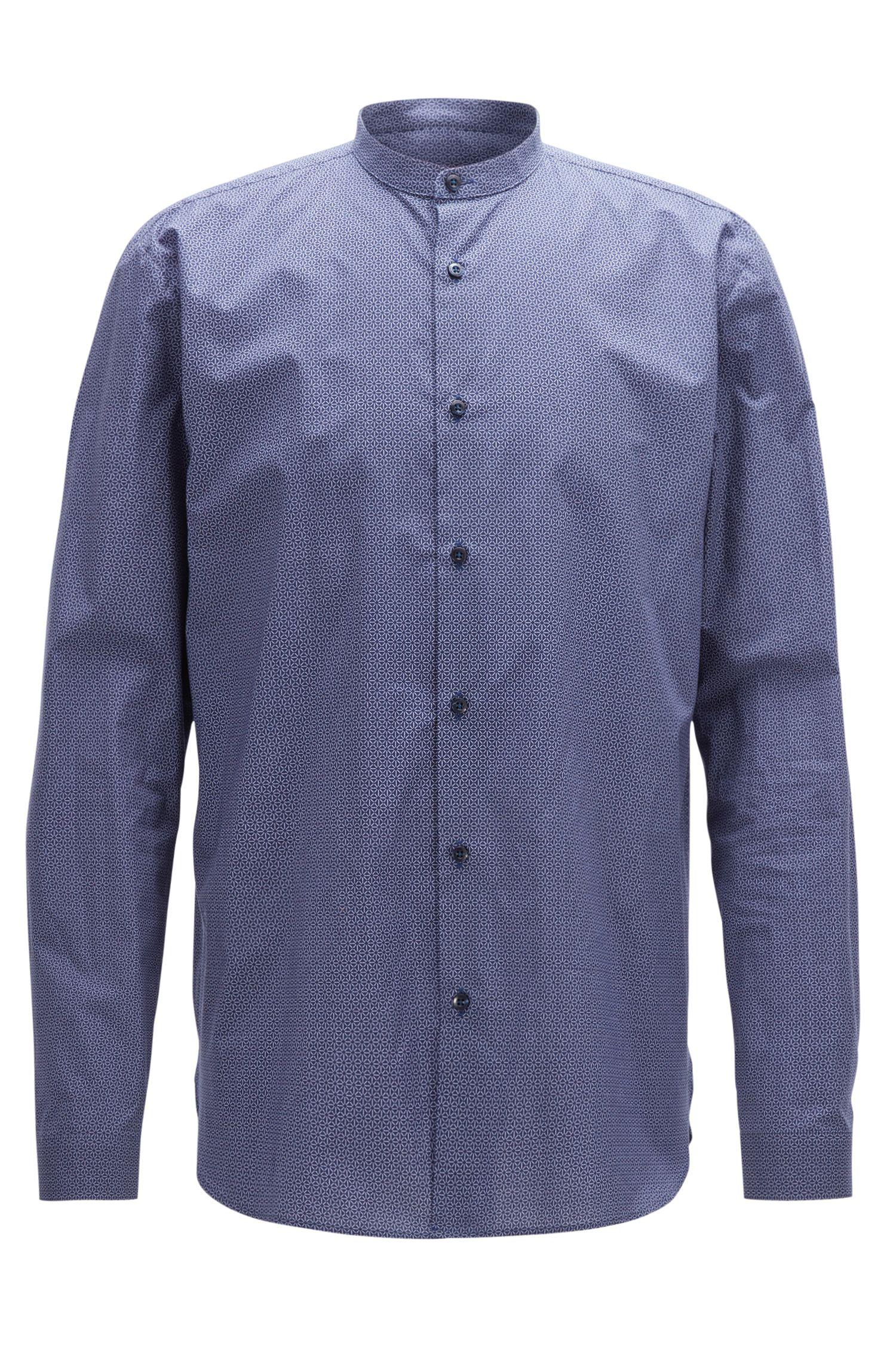 Relaxed-Fit-Hemd aus Baumwolle mit feinem geometrischem Print