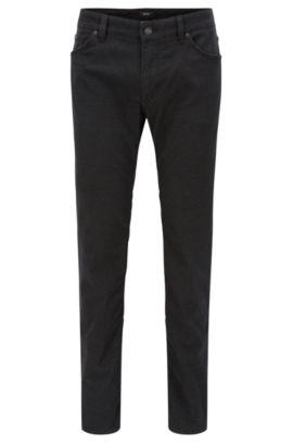 Regular-Fit Jeans aus gebürstetem Denim, Dunkelgrau