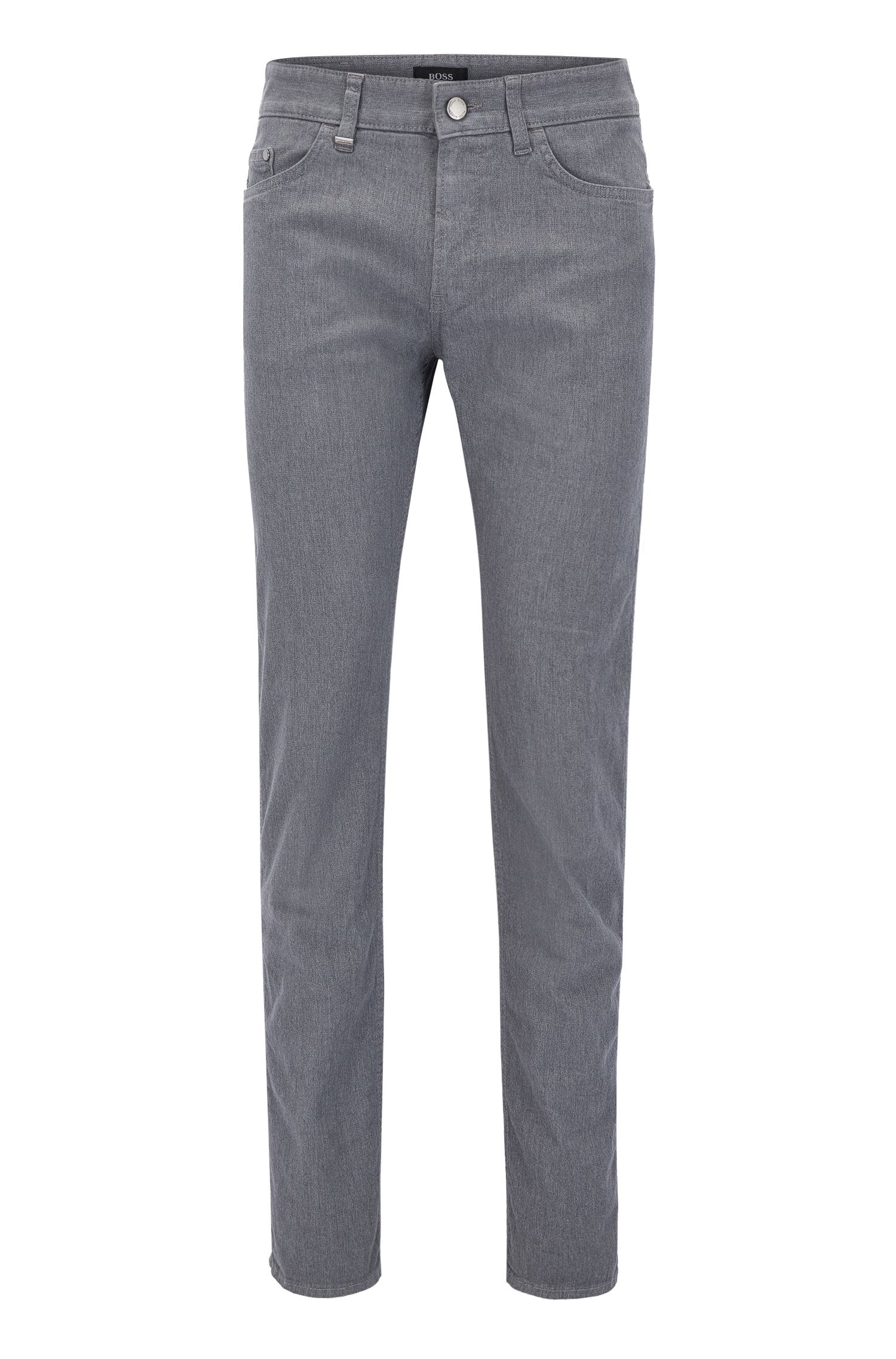 Slim-Fit Jeans aus gebürsteter Stretch-Baumwolle