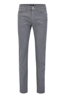 Slim-fit jeans in brushed twill, Grey