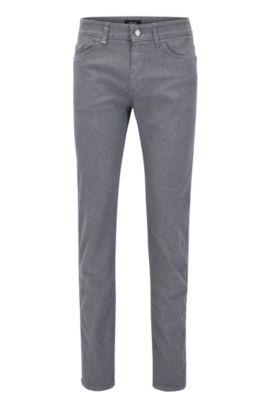 Slim-Fit Jeans aus gebürsteter Stretch-Baumwolle, Grau