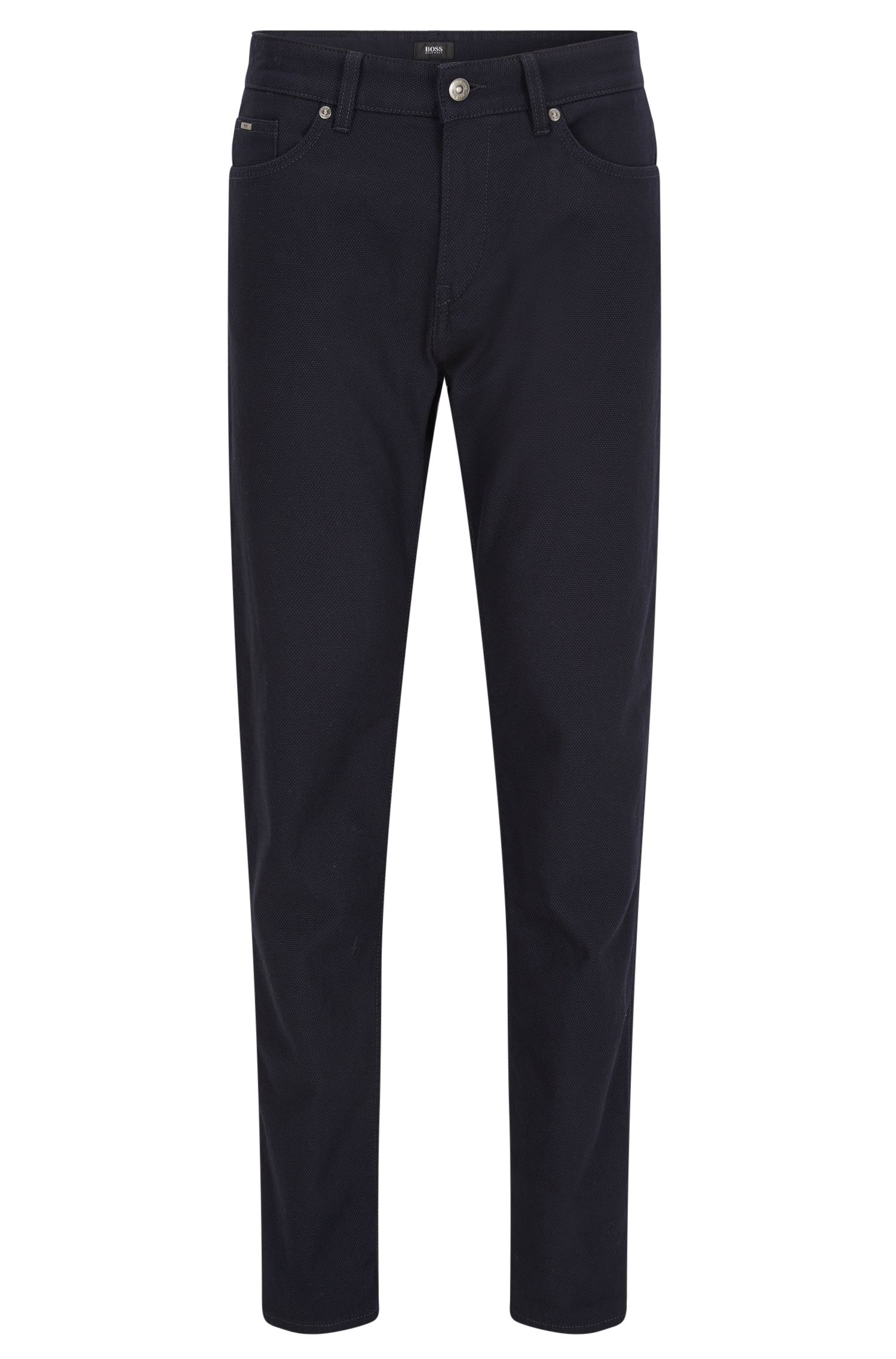 Slim-fit jeans van gestructureerde katoen met stretch