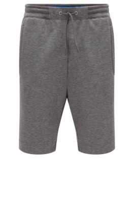 Regular-fit short van een katoenmix, Grijs