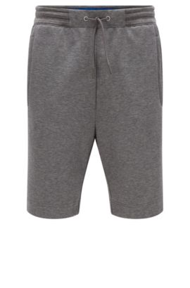 Regular-fit shorts in cotton blend, Grey