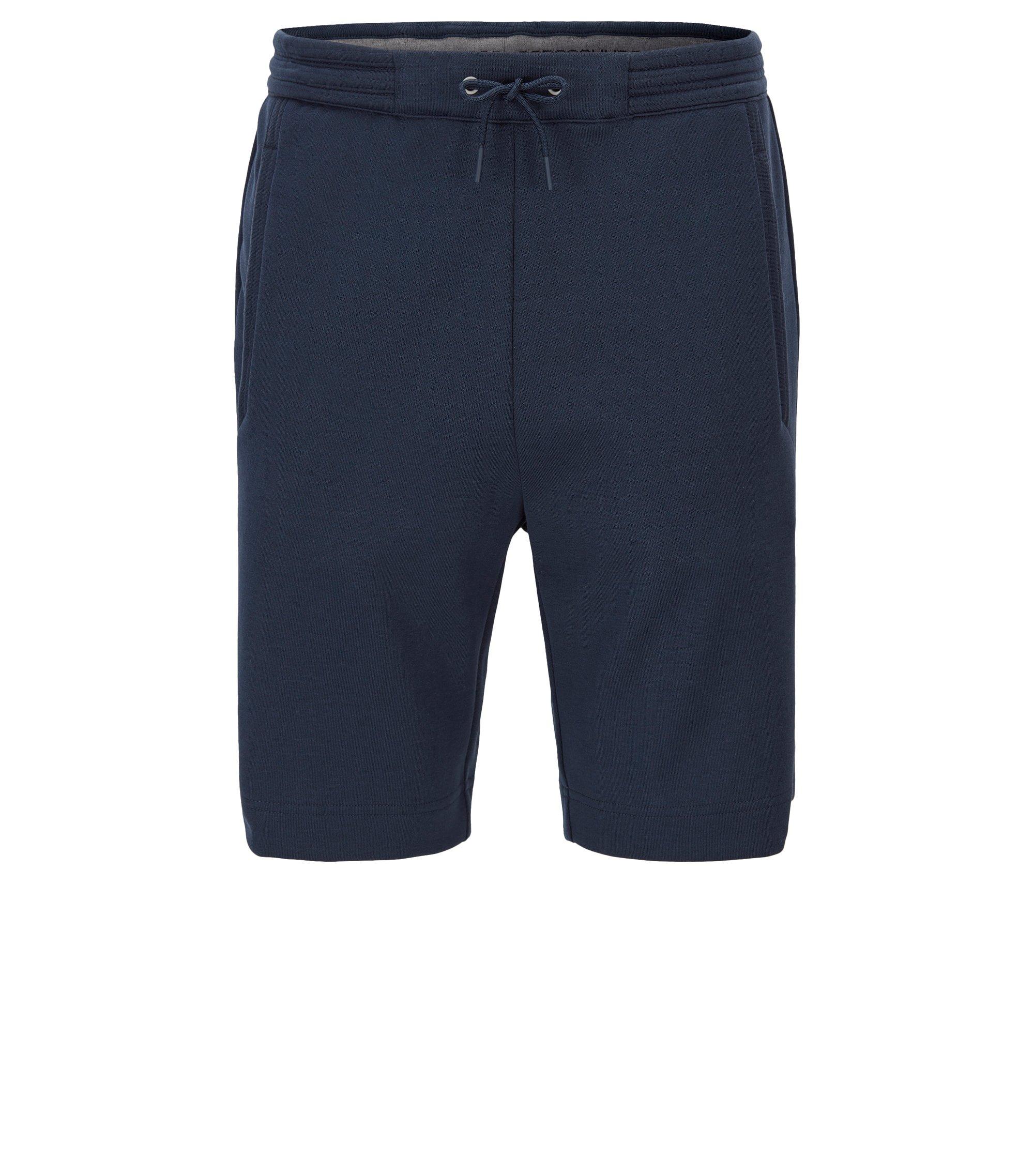 Regular-Fit Shorts aus Baumwoll-Mix, Dunkelblau