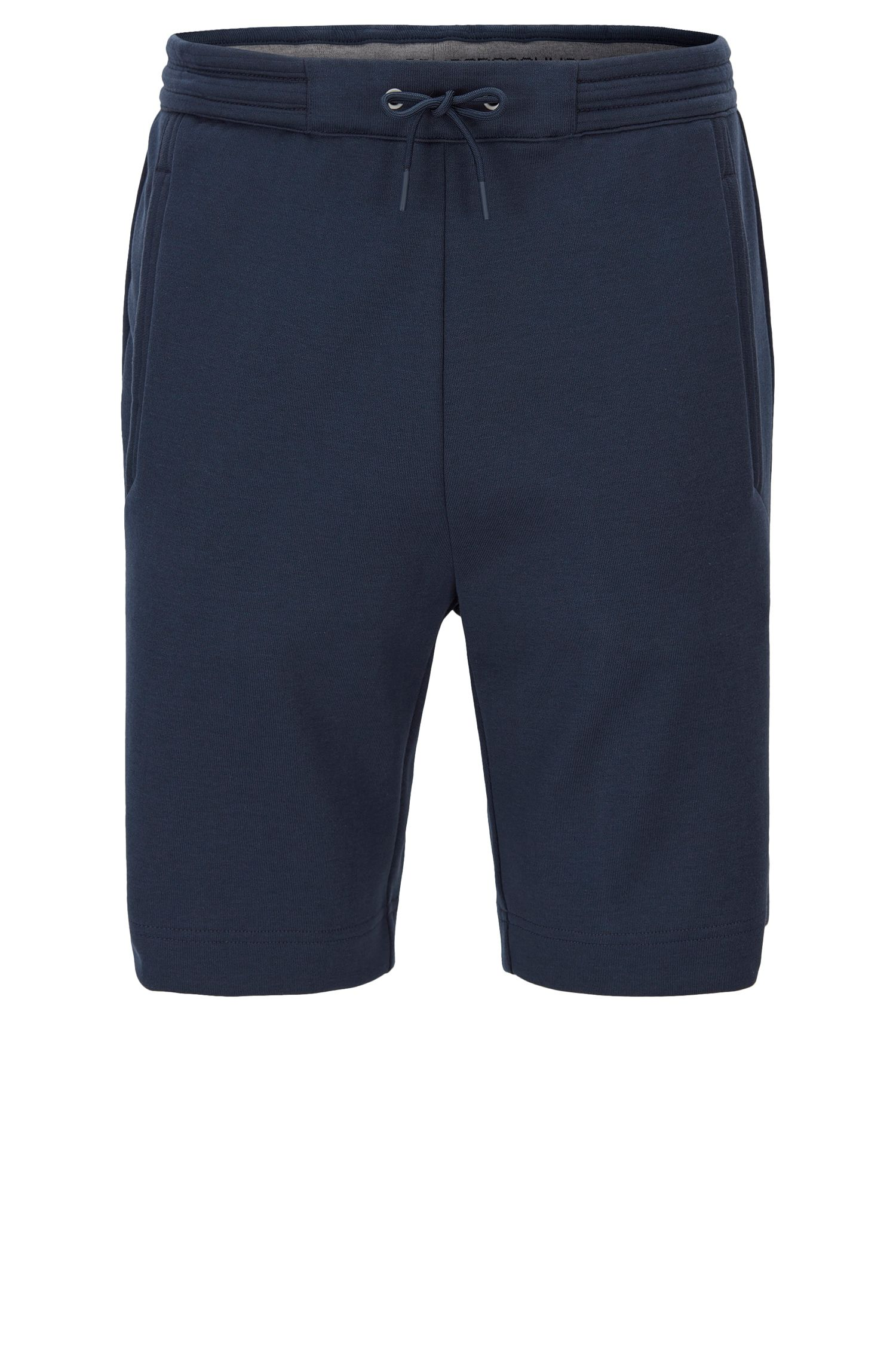 Regular-fit short van een katoenmix