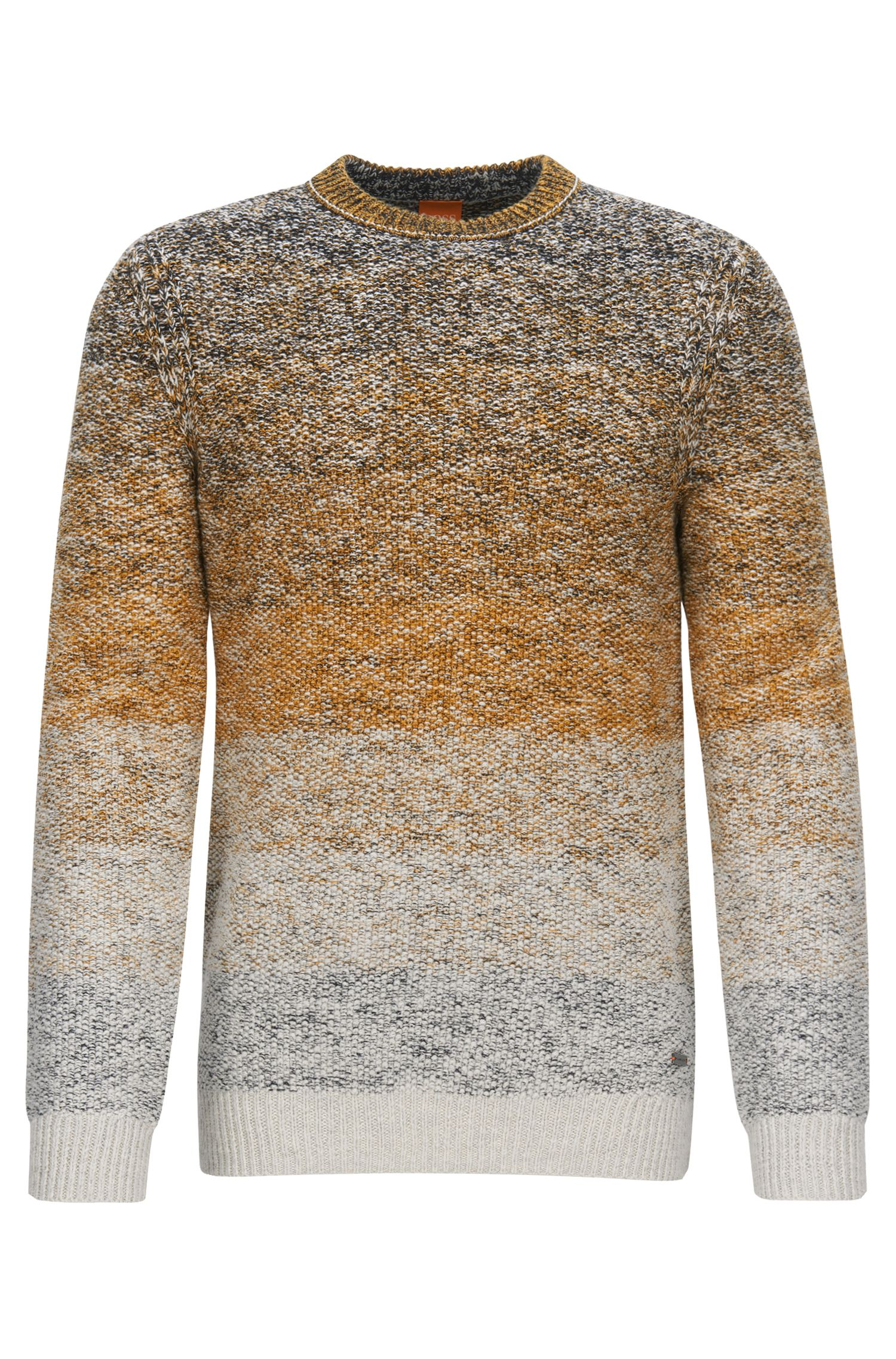 Crew-neck sweater in dégradée cotton