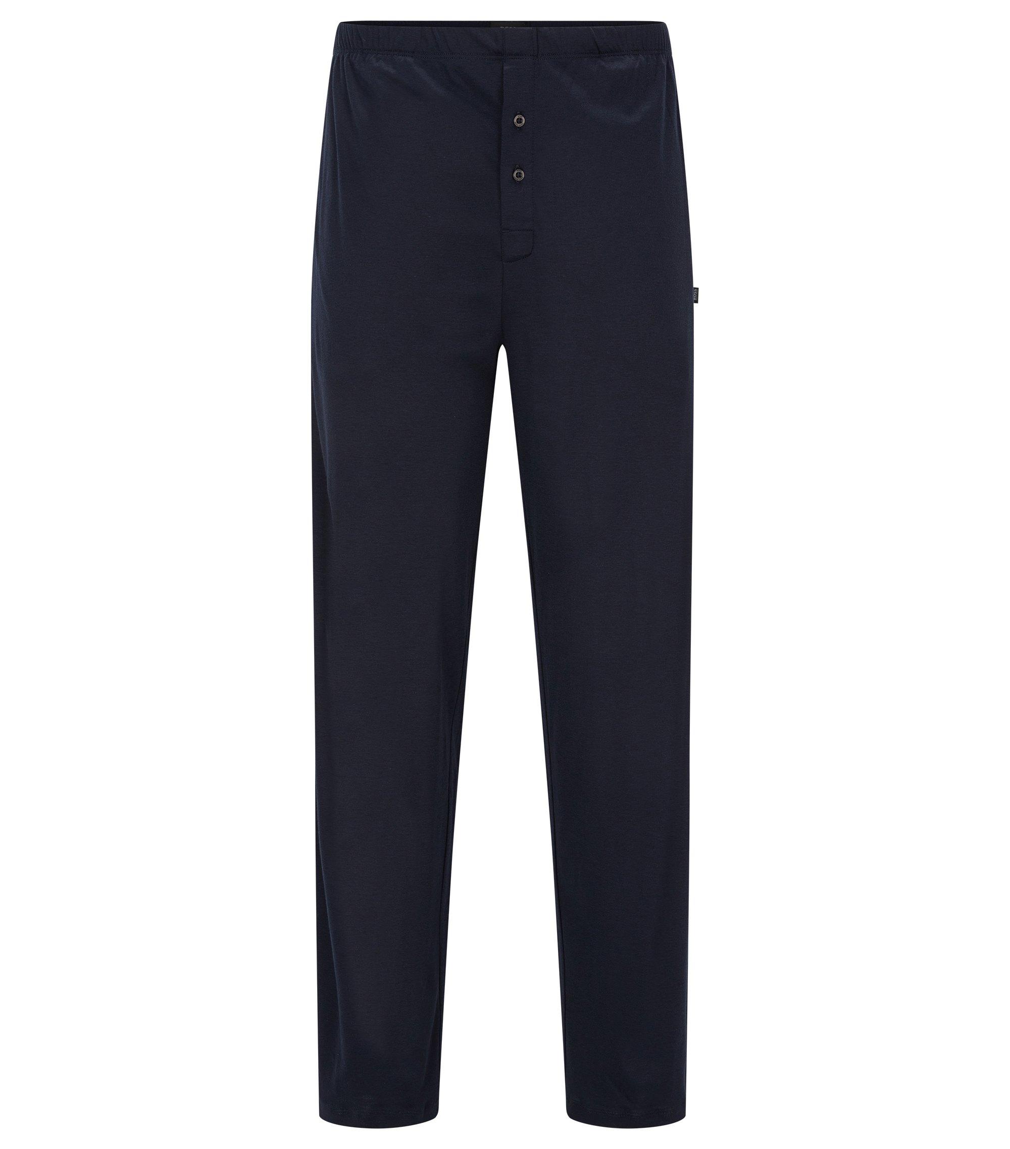 Pantalón de pijama en algodón y modal, Azul oscuro