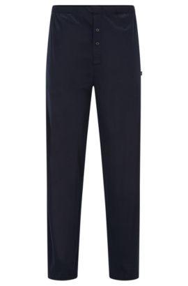Pyjama-Hose aus Baumwoll-Modal-Mix, Dunkelblau