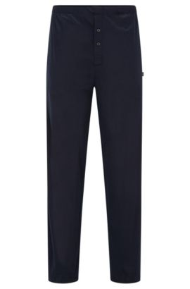 Pyjama bottoms in cotton and modal, Dark Blue