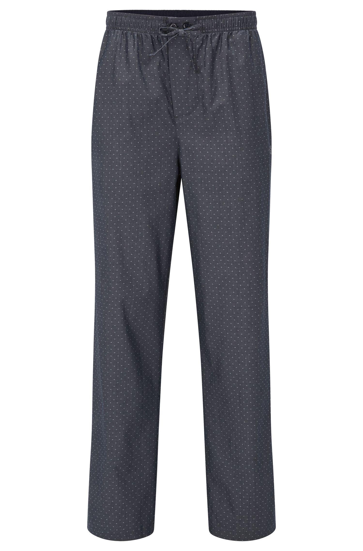 Bas de pyjama en coton à micro-motif