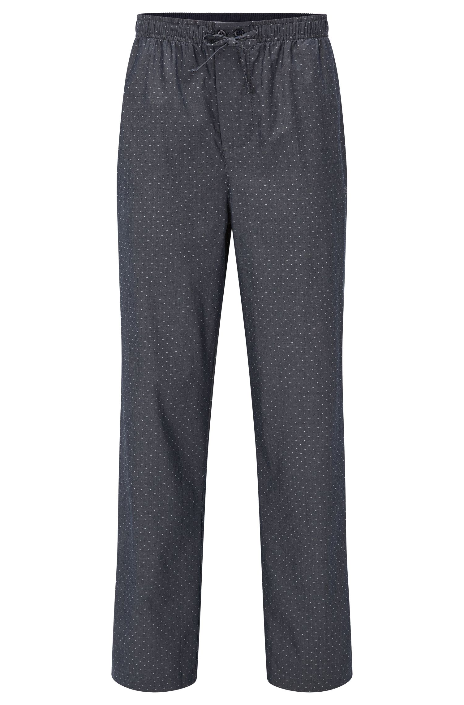 Pyjama bottoms in micro-pattern cotton