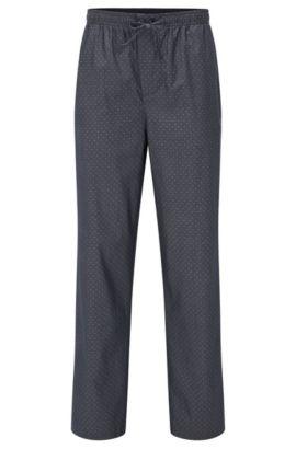 Pantalón de pijama en algodón con microestampado, Azul oscuro