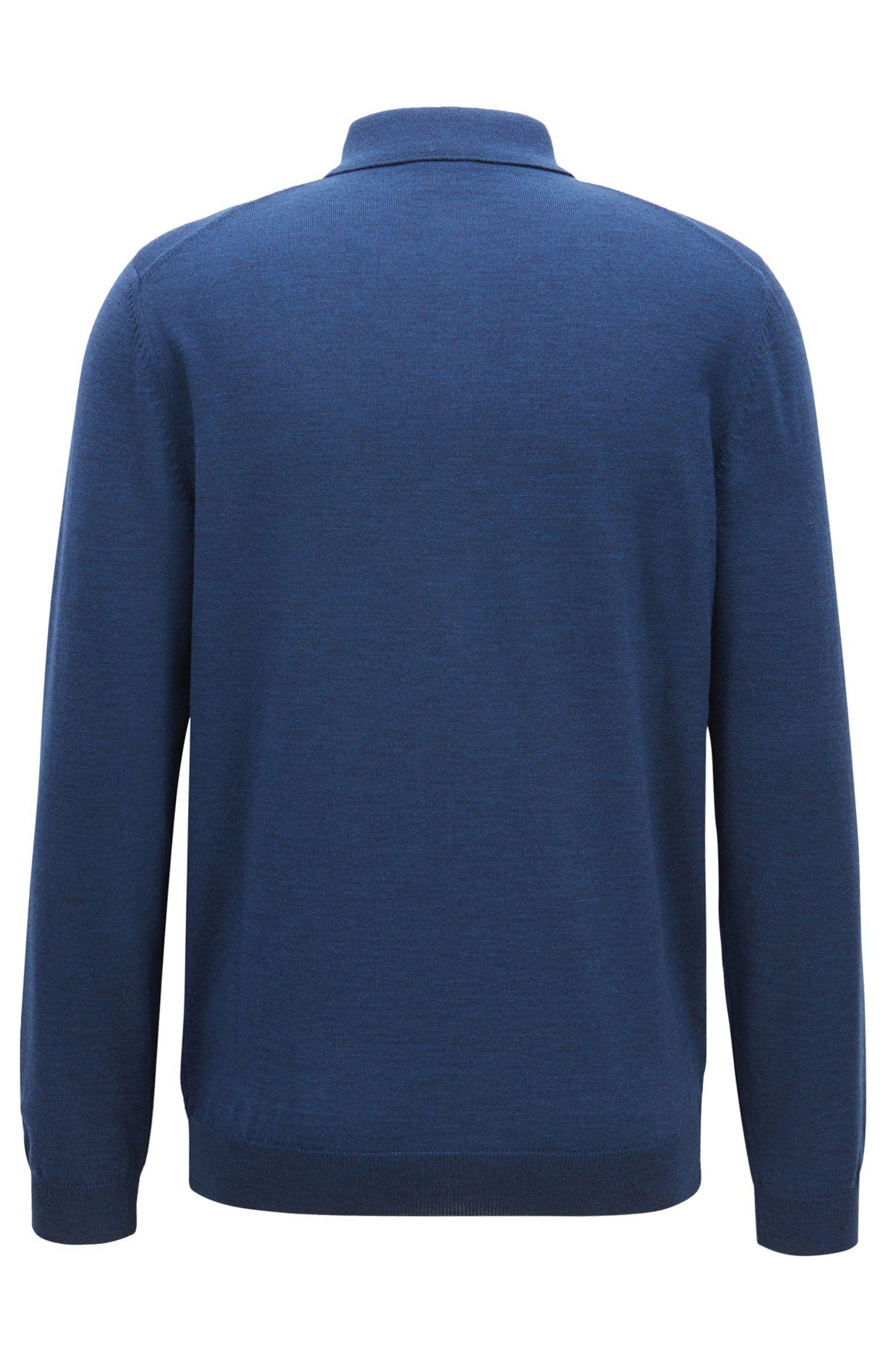 Pullover aus Schurwolle mit Polokragen