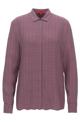 Relaxed-fit printed lightweight shirt, Patterned