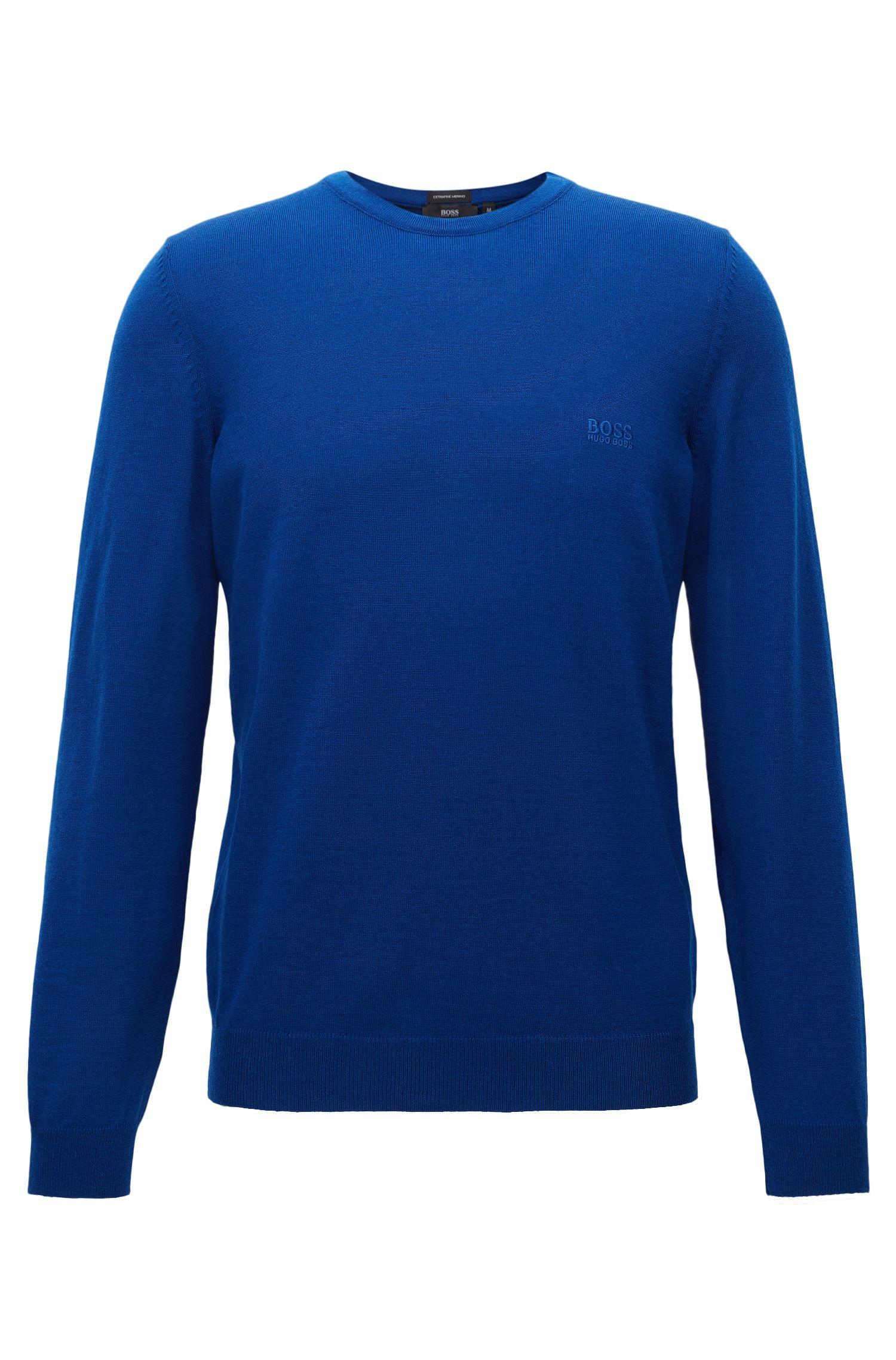 Maglione a girocollo in jersey di lana vergine