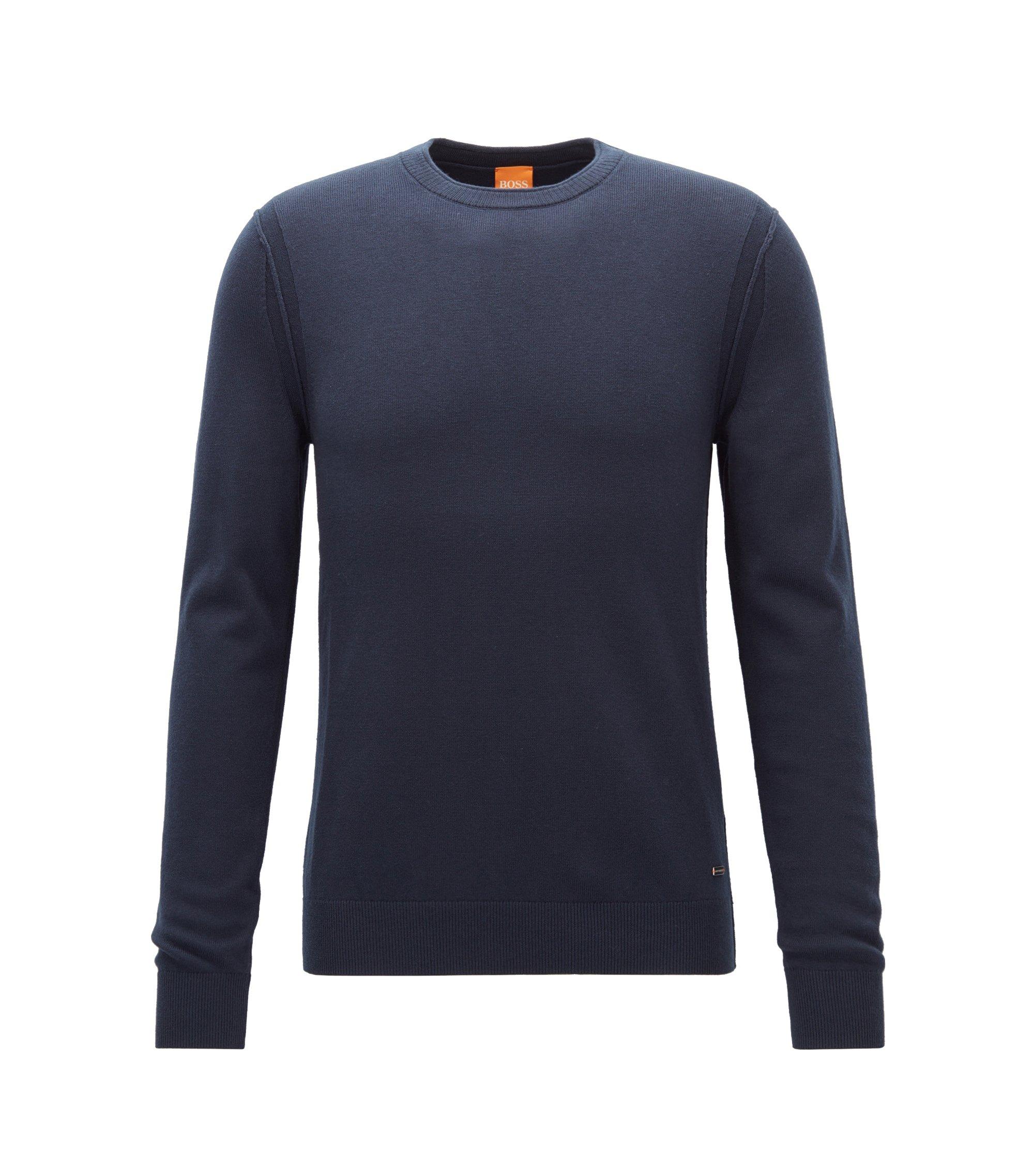 Maglione con cuciture a contrasto, Blu scuro