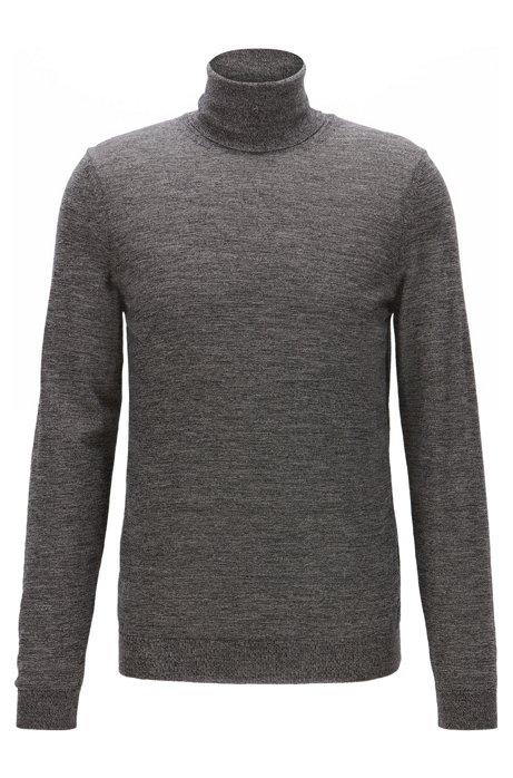 864668ea8 BOSS - Slim-fit turtle-neck sweater in wool