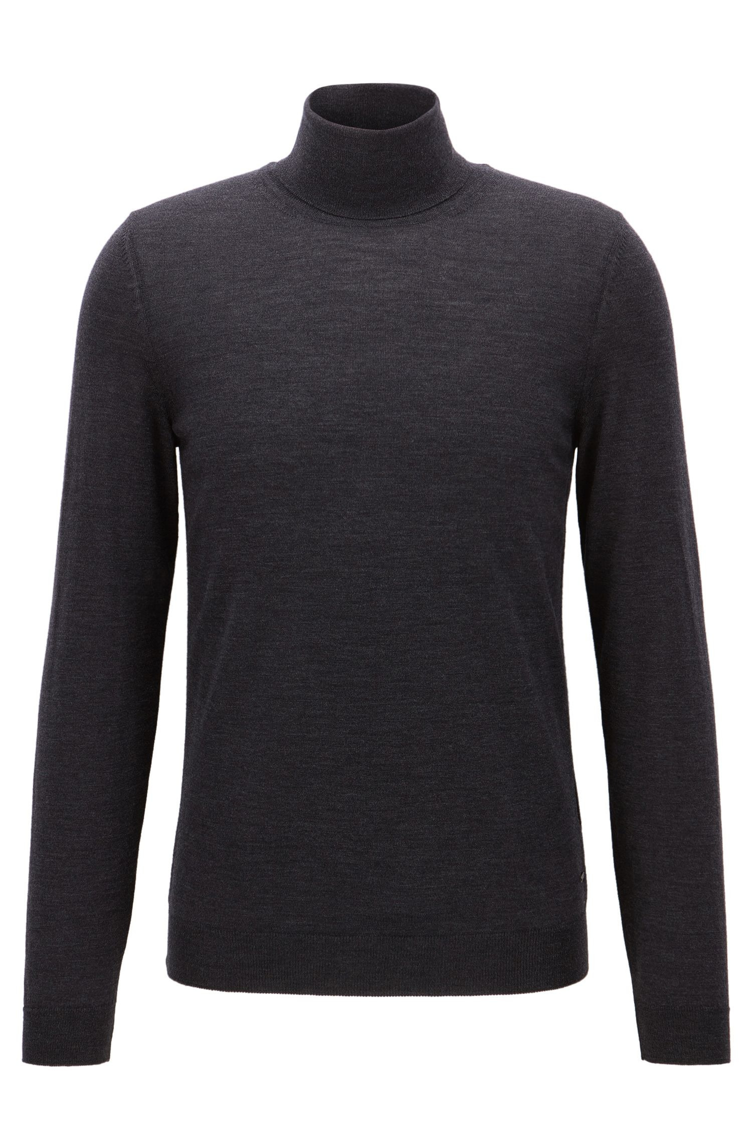 Slim-fit turtle-neck sweater in wool