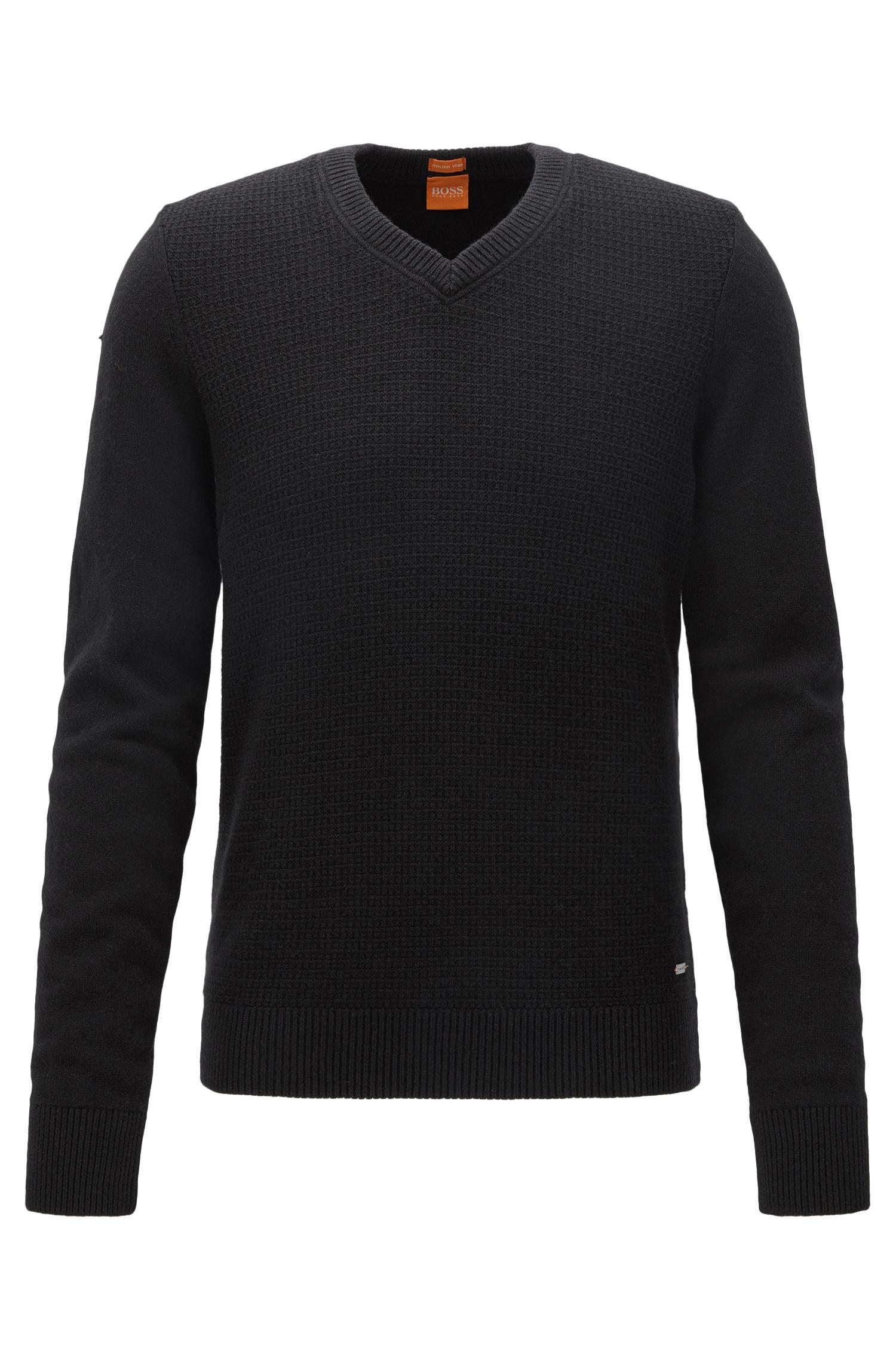 Pull Regular Fit confectionné avec du coton et de la laine