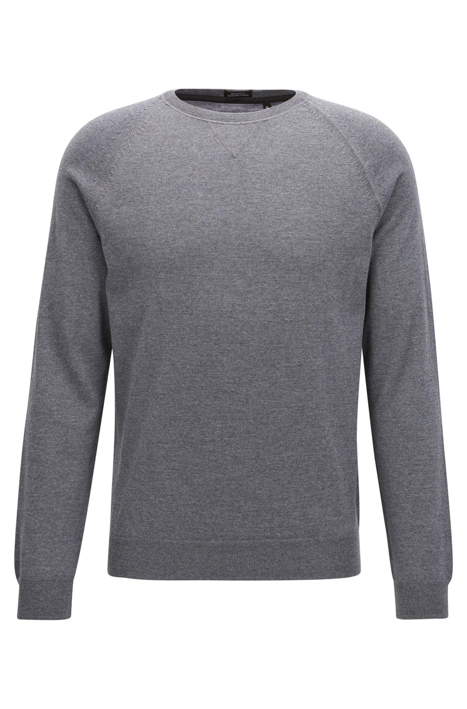 Crew-neck sweater in Merino wool
