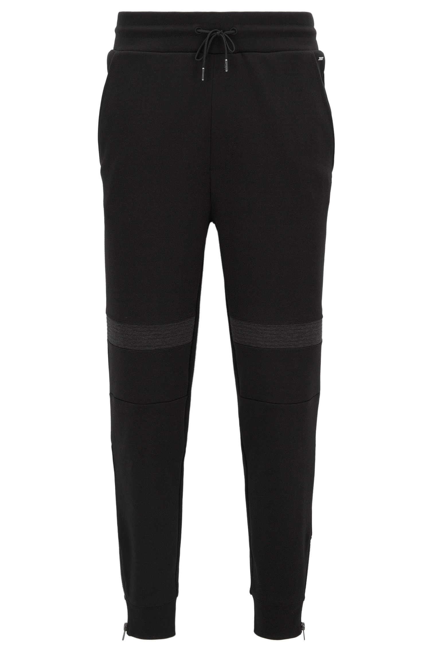 Relaxed-fit trousers in heavyweight interlock cotton