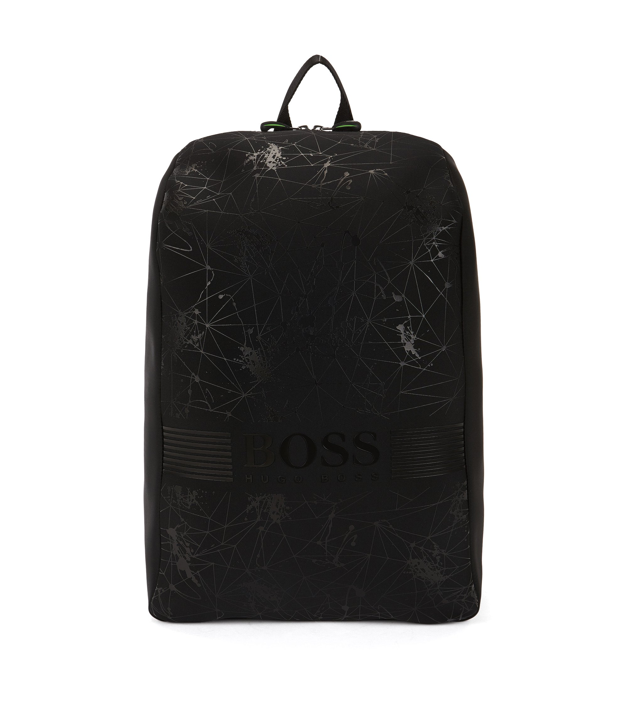 Graphic-print neoprene backpack, Black
