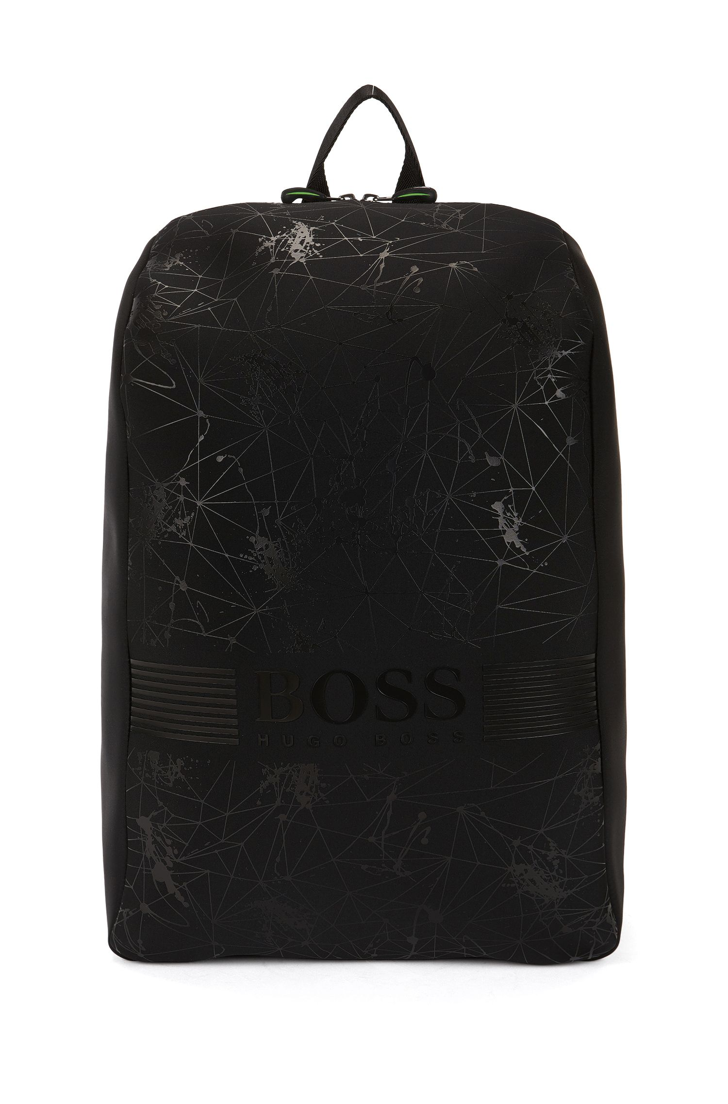 Graphic-print neoprene backpack