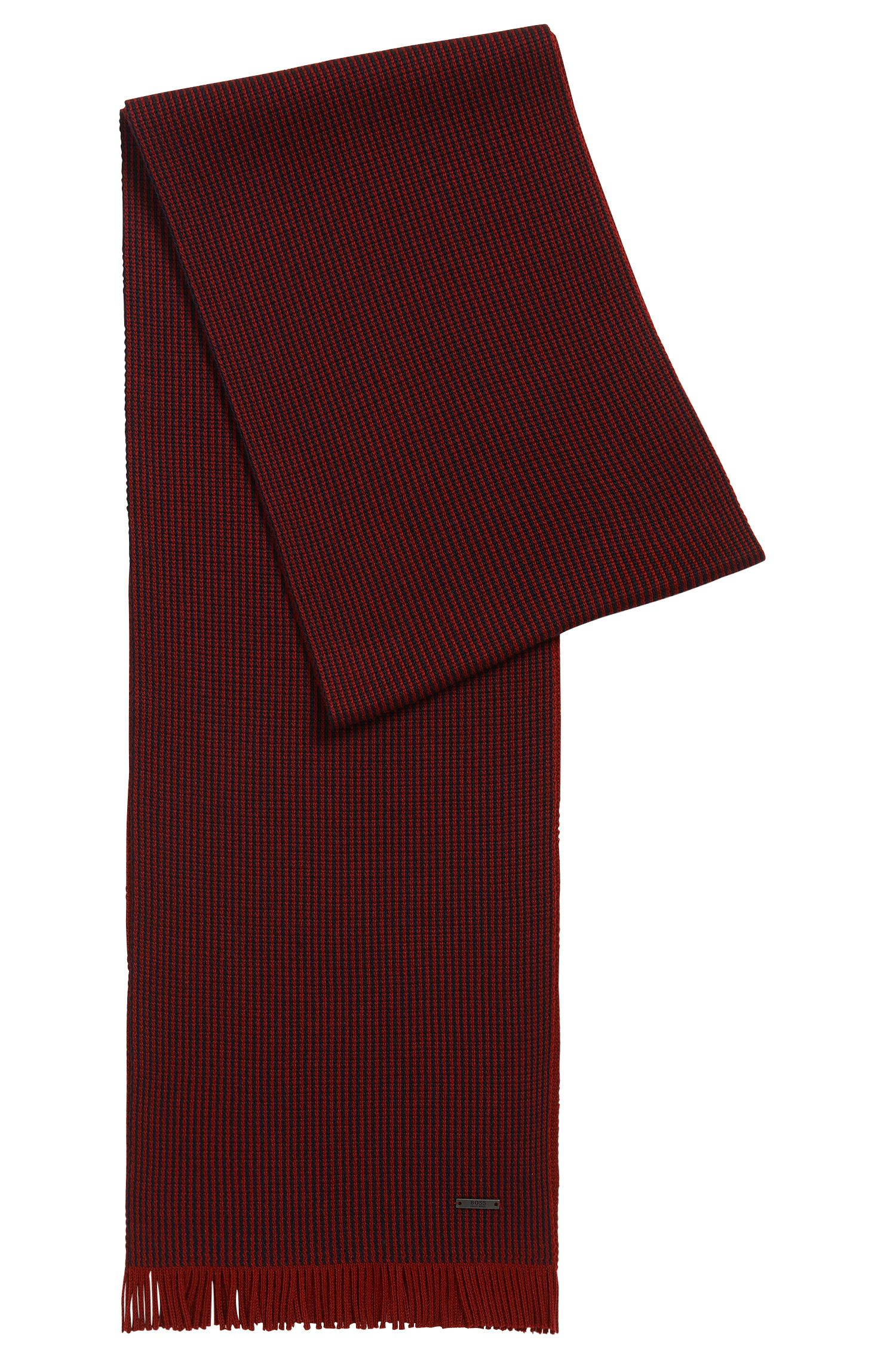 Pinstripe scarf in virgin wool