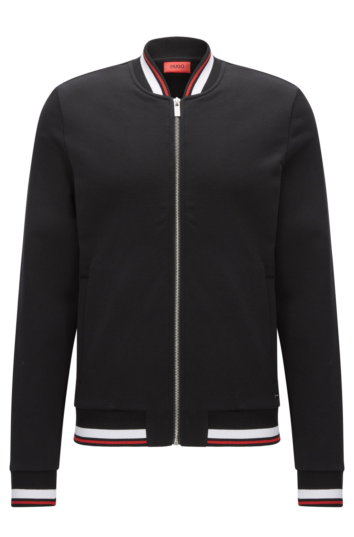 Relaxed-fit zip-through jacket in French terry