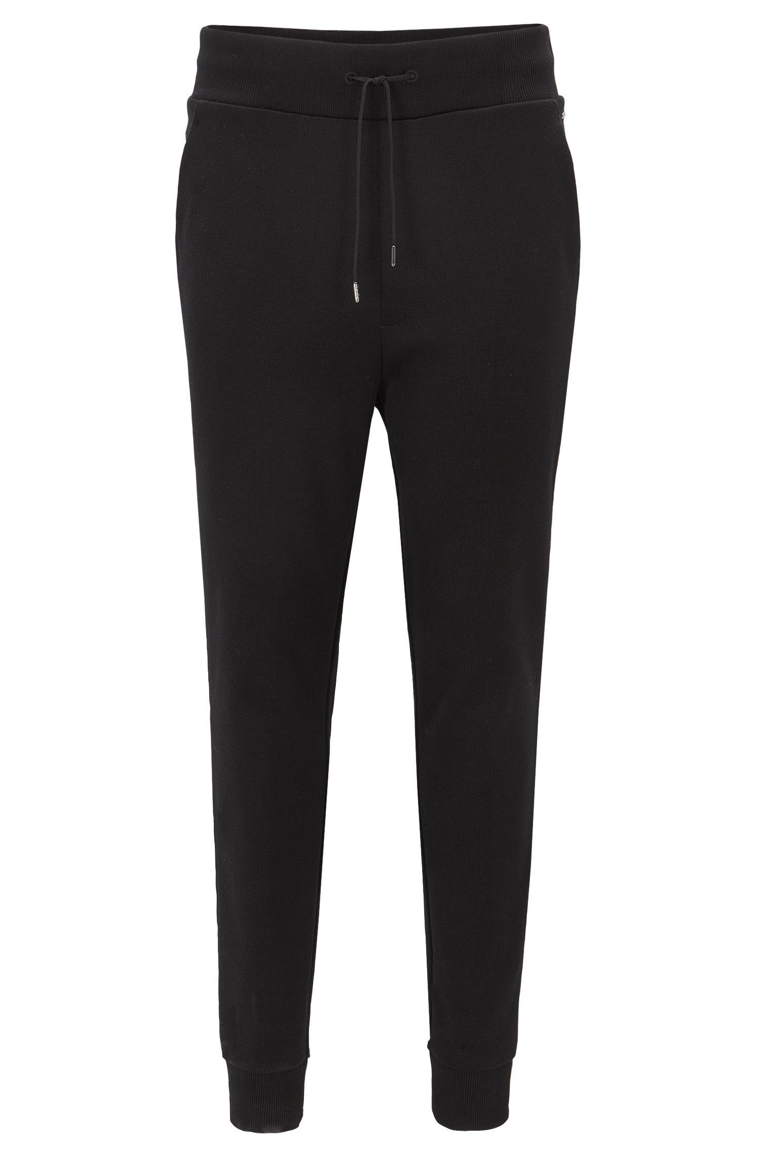Relaxed-Fit-Hose aus geripptem Baumwoll-Jersey