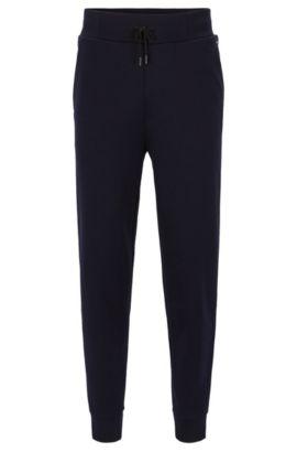 Relaxed-fit broek van Franse ribkatoenjersey, Donkerblauw