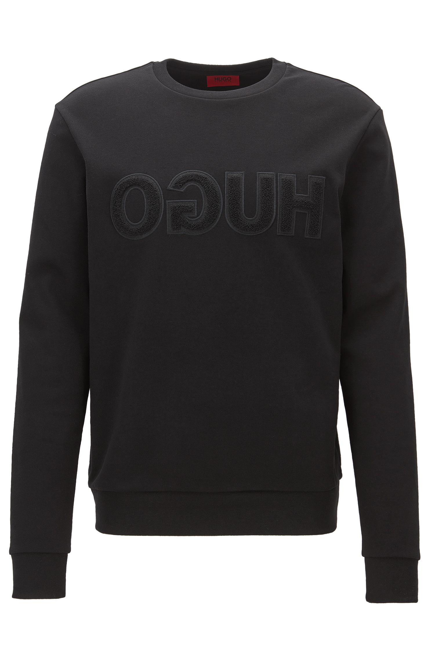 Logo-detail sweatshirt in interlock cotton