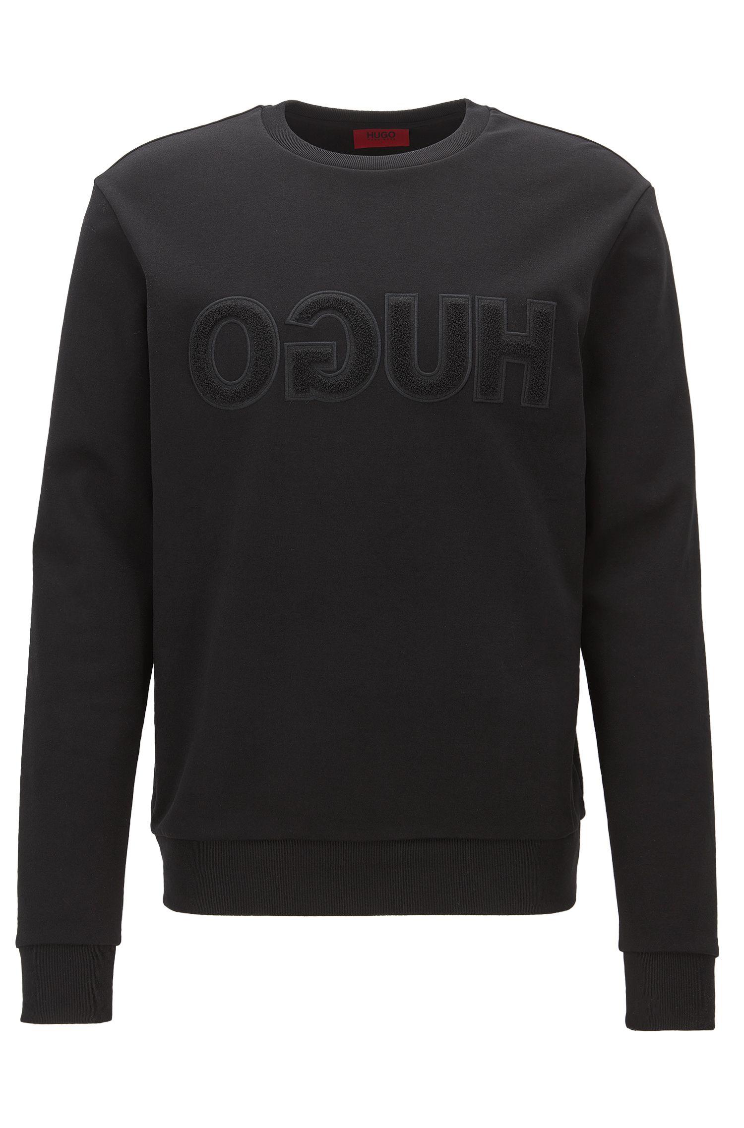 Relaxed Fit Sweatshirt aus Baumwolle mit Logo
