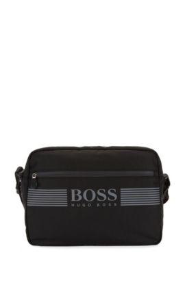 Messenger bag in durable nylon, Black