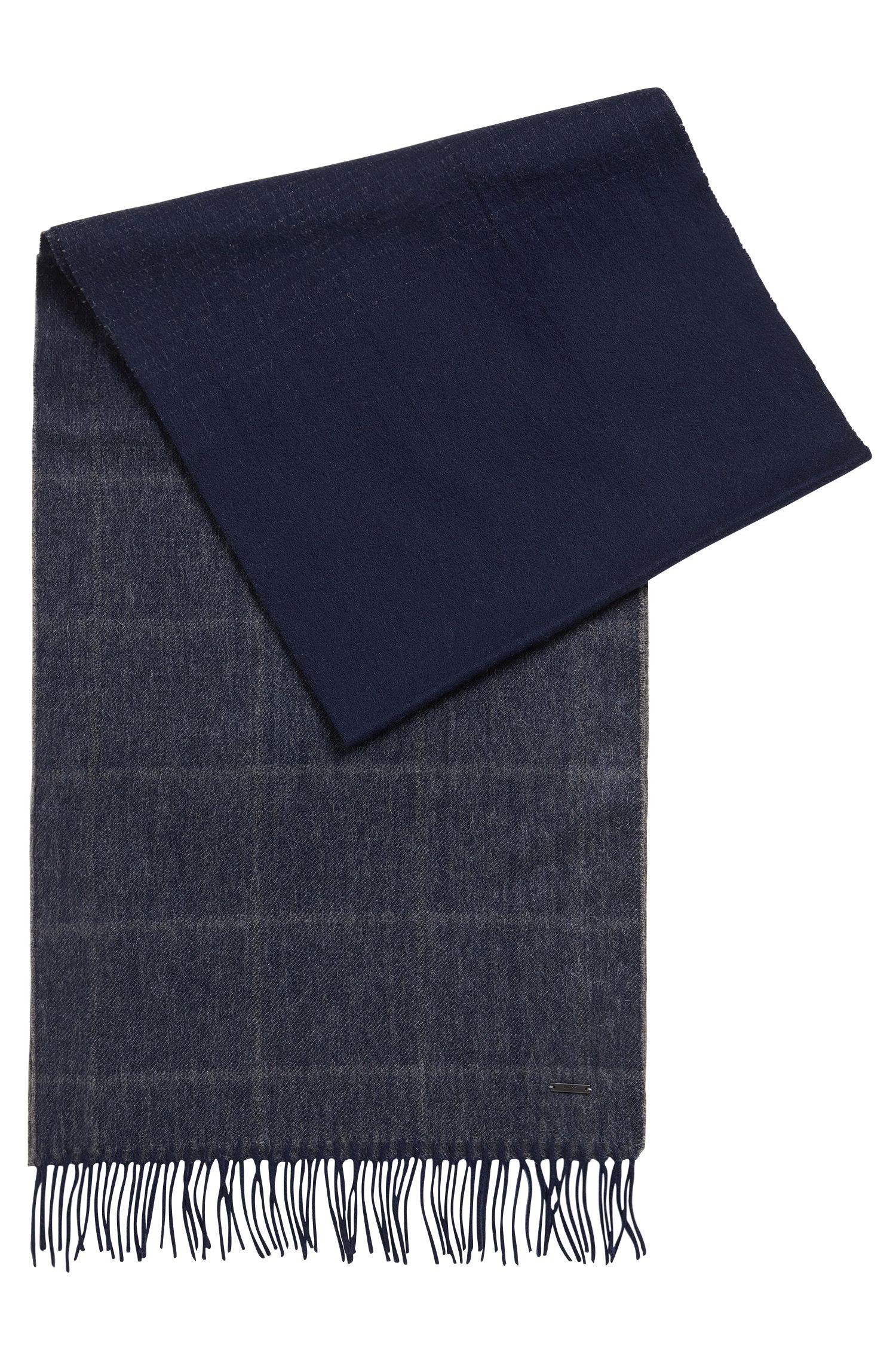 Sciarpa leggera in lana e cashmere a quadri