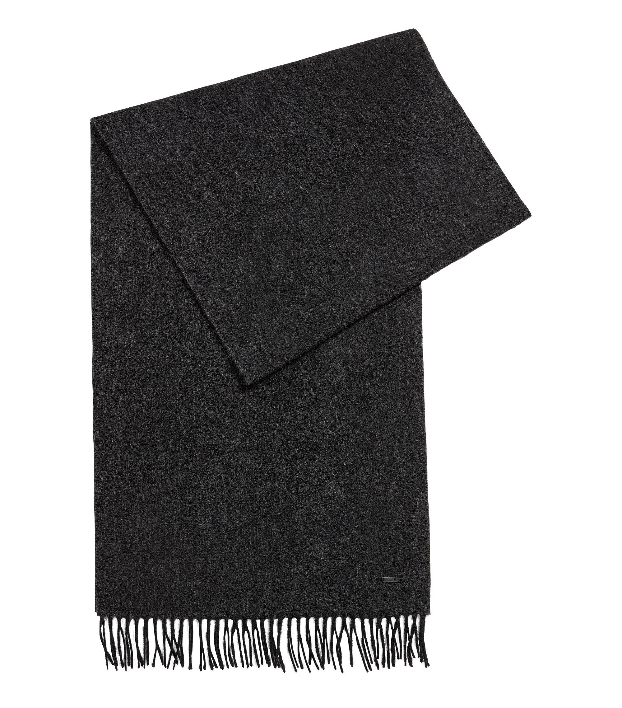 Sciarpa in lana effetto mélange, Nero