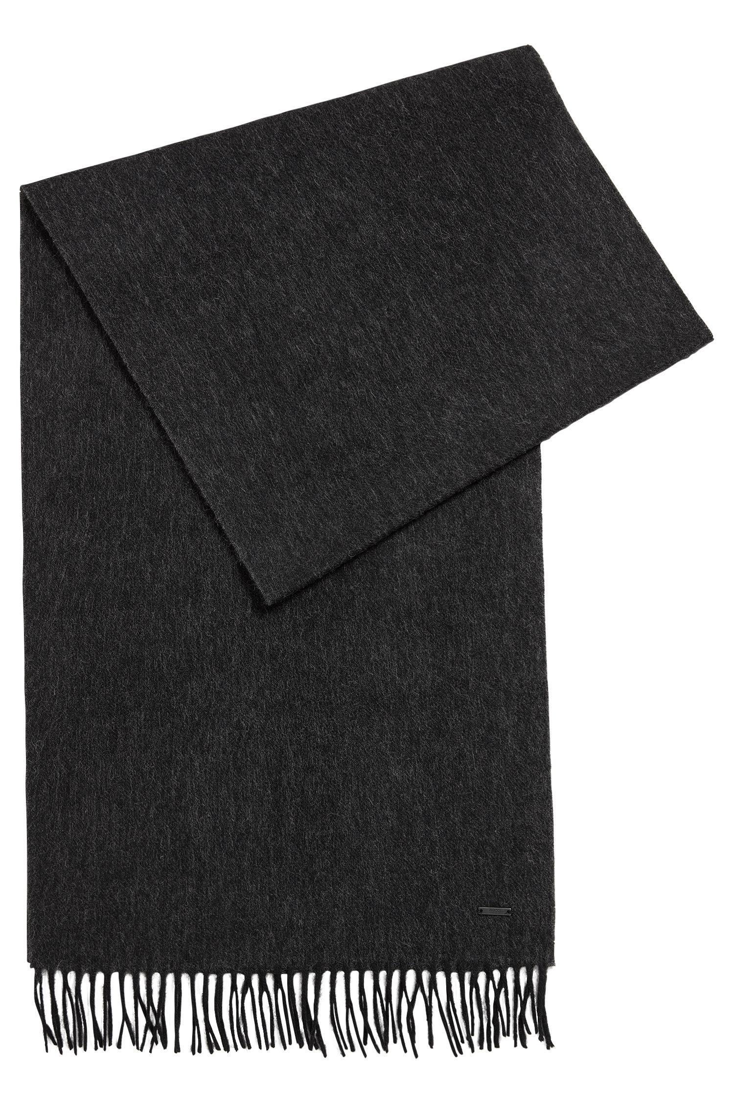 Bufanda de lana con efecto jaspeado
