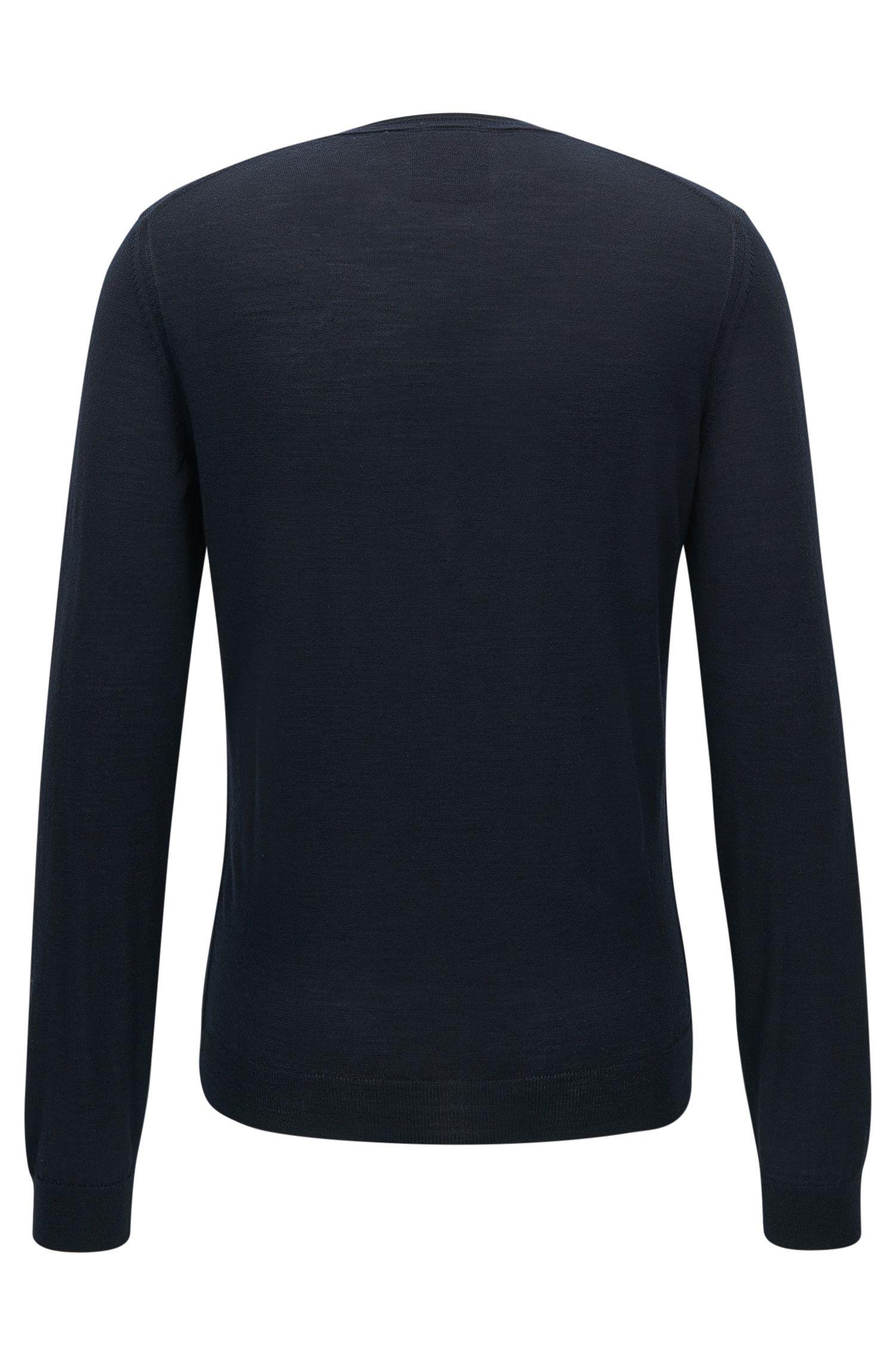 Slim-fit trui van Italiaanse wol en zijde