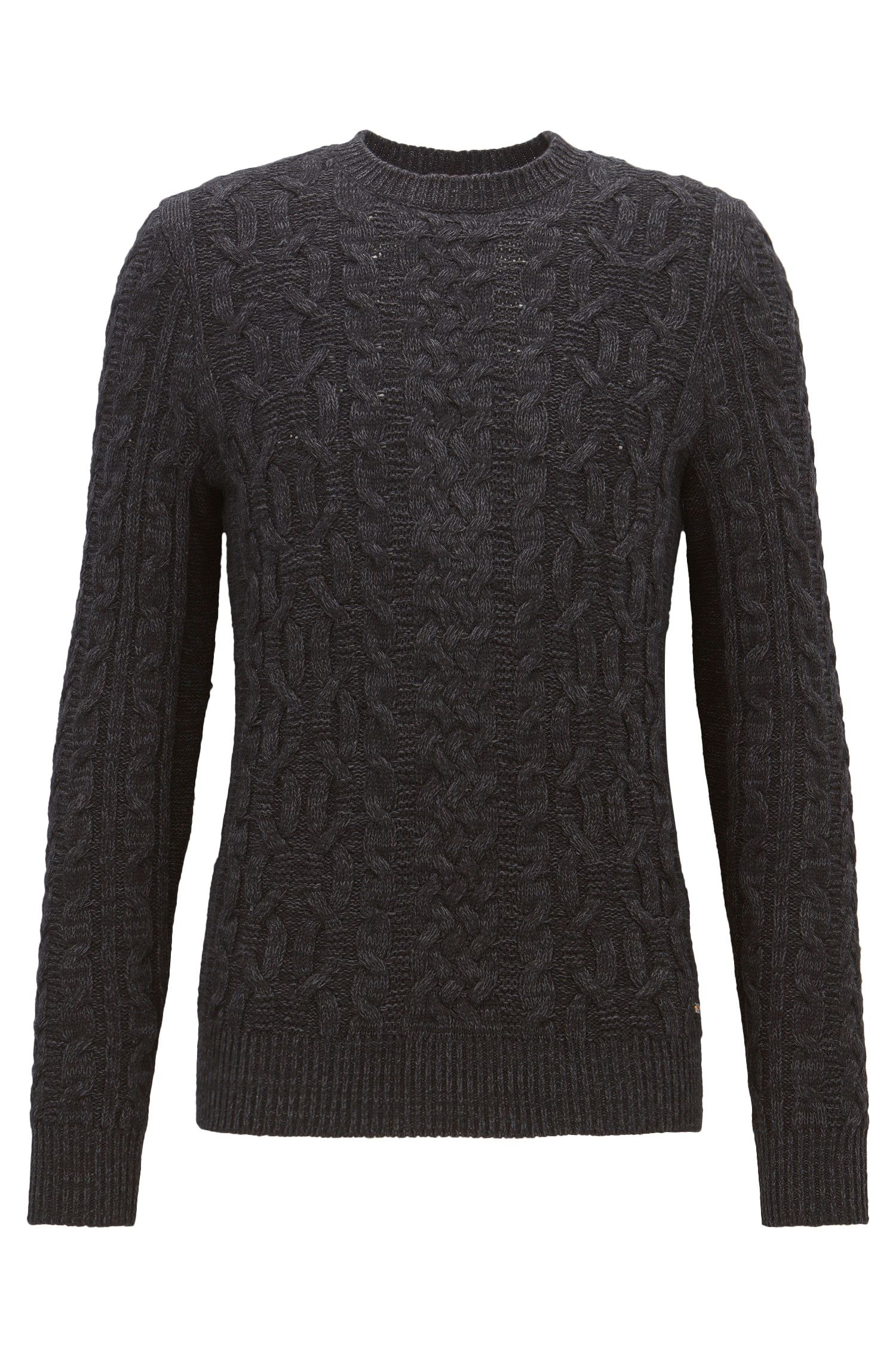 Cable-knit sweater in a cotton blend