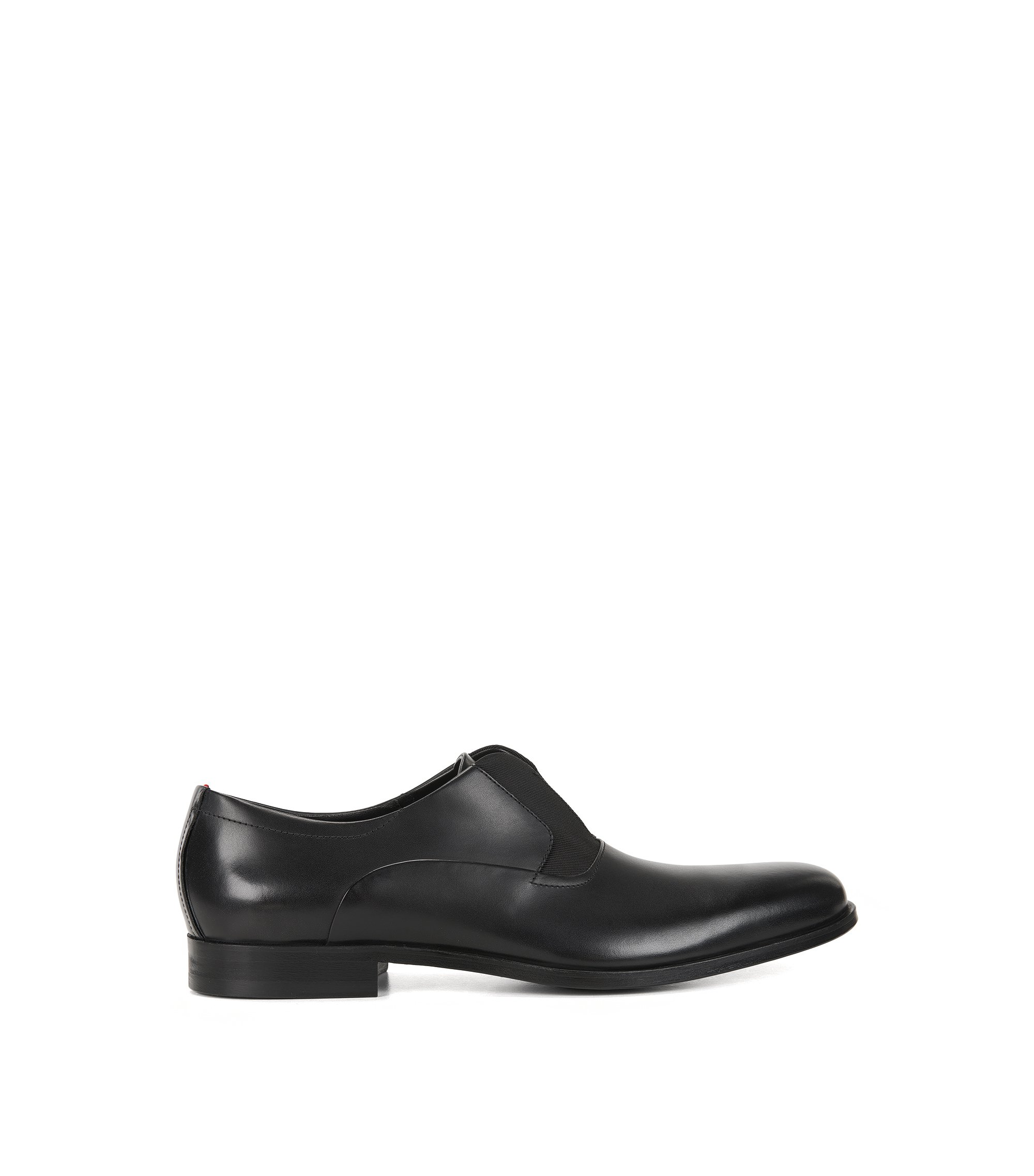 Slip-on Oxford shoes in leather, Black
