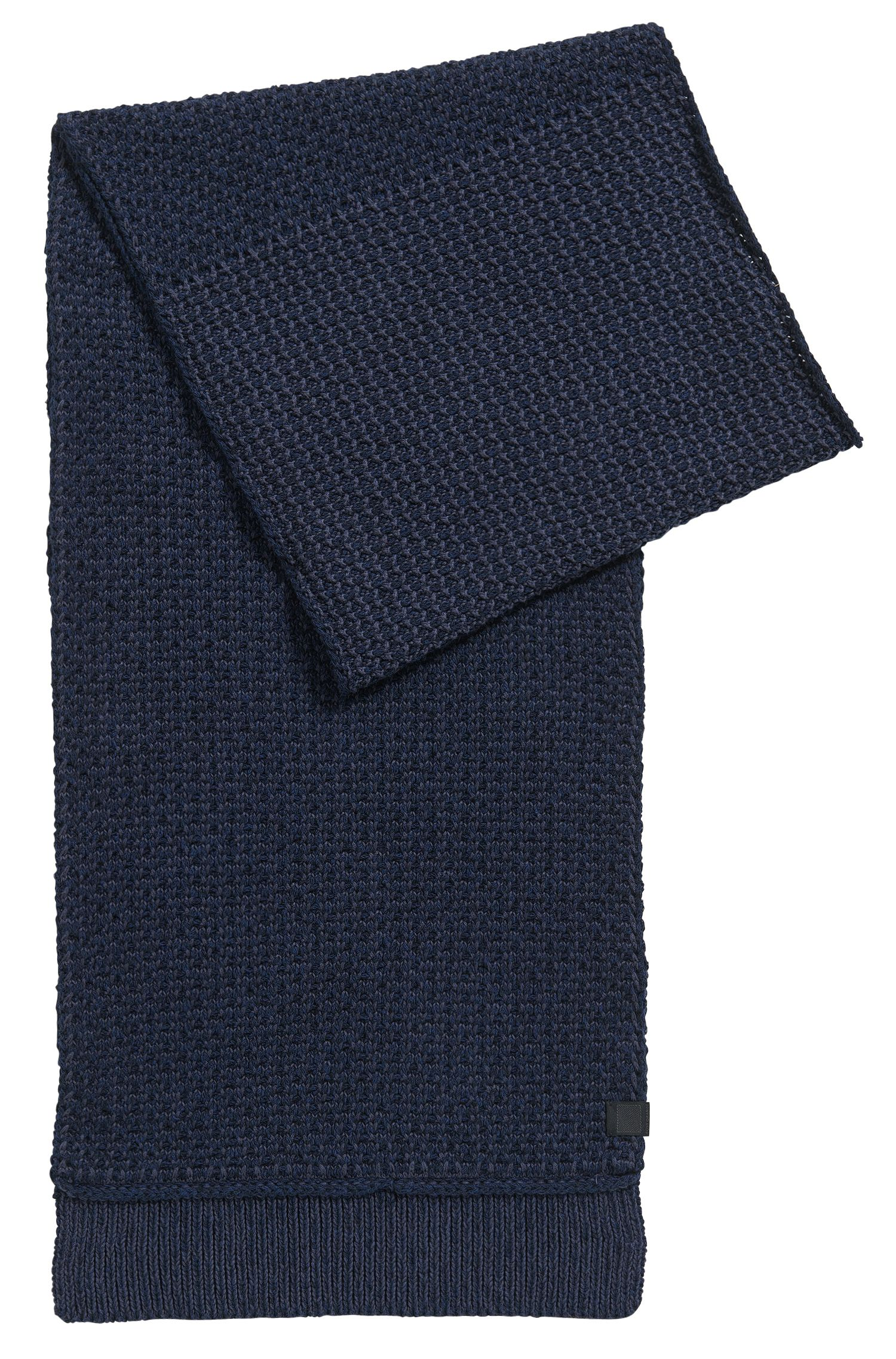 Structured scarf in knitted cotton