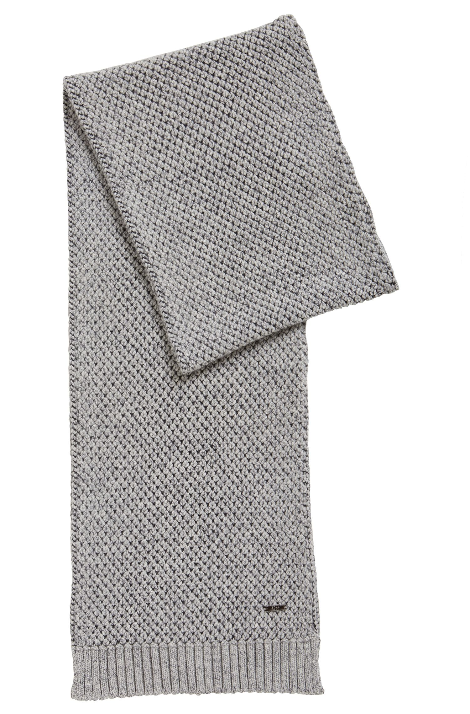 Chunky-knit scarf in a cashmere blend