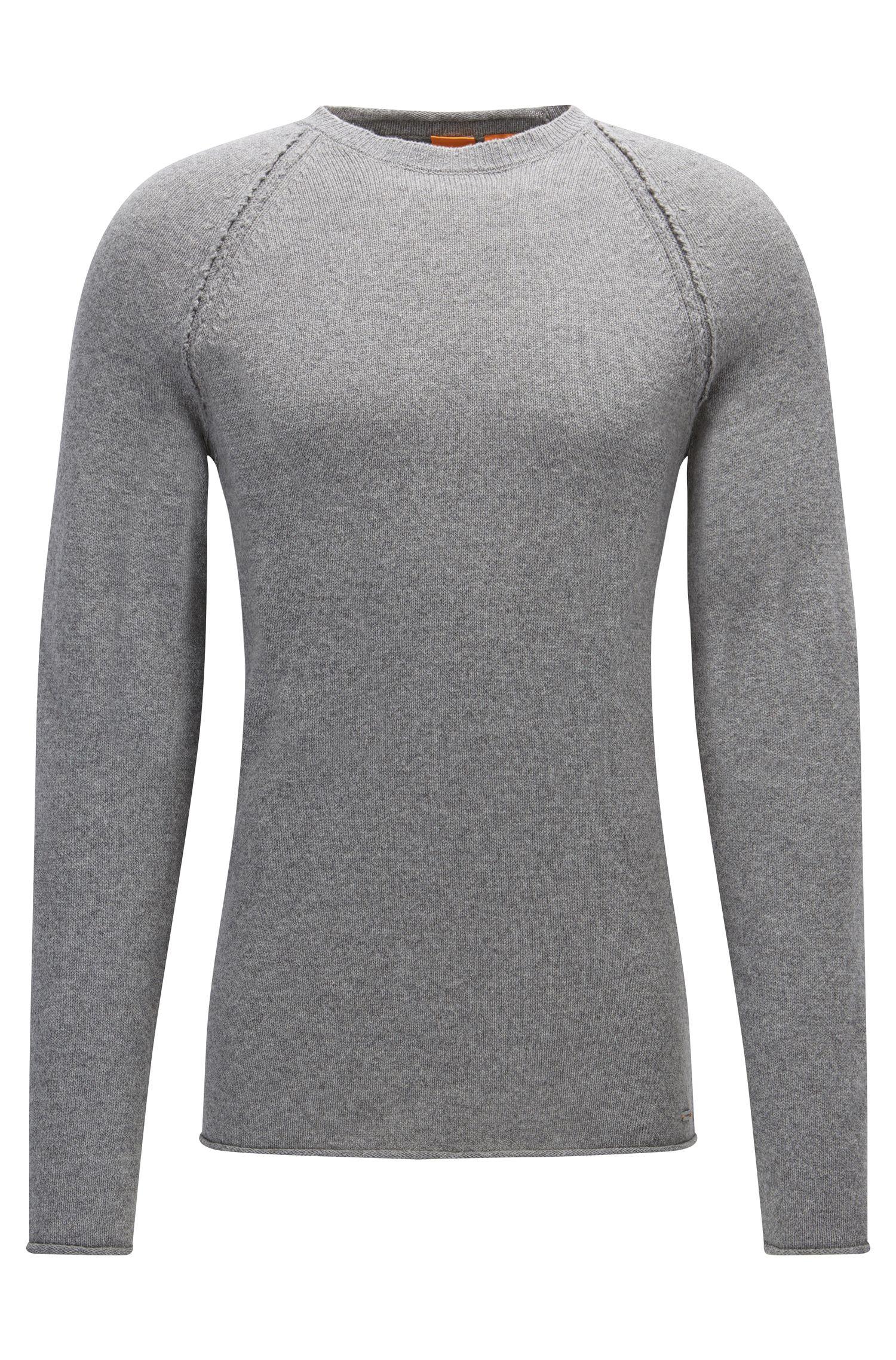 Crew-neck sweater in Italian fabric