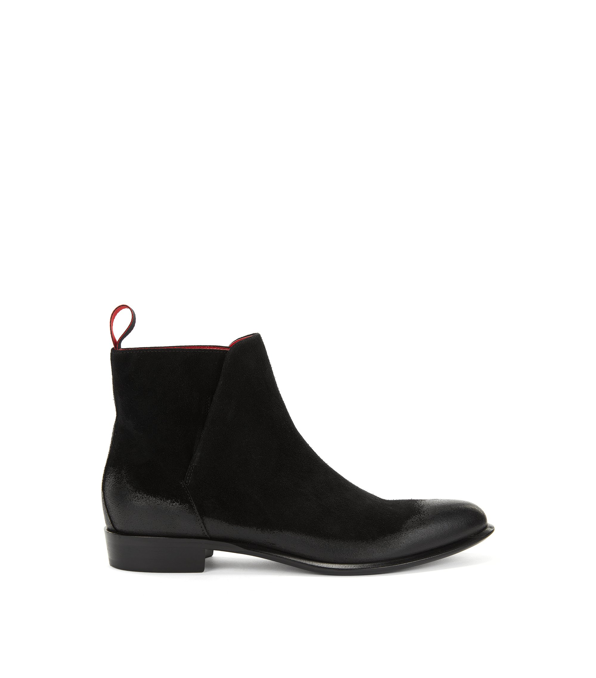 Chelsea boots in brushed suede, Black