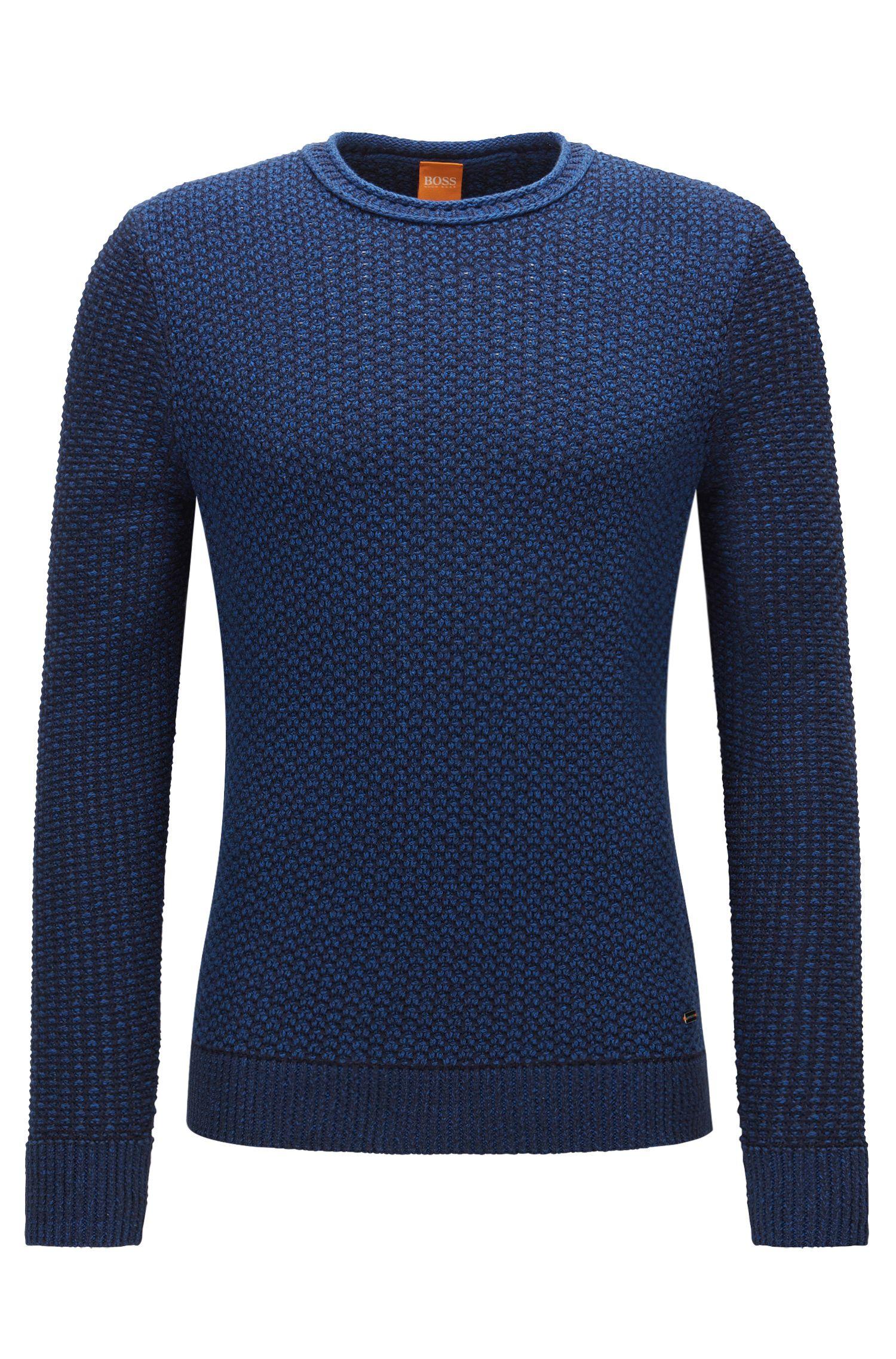 Regular-Fit Pullover aus strukturierter Baumwolle