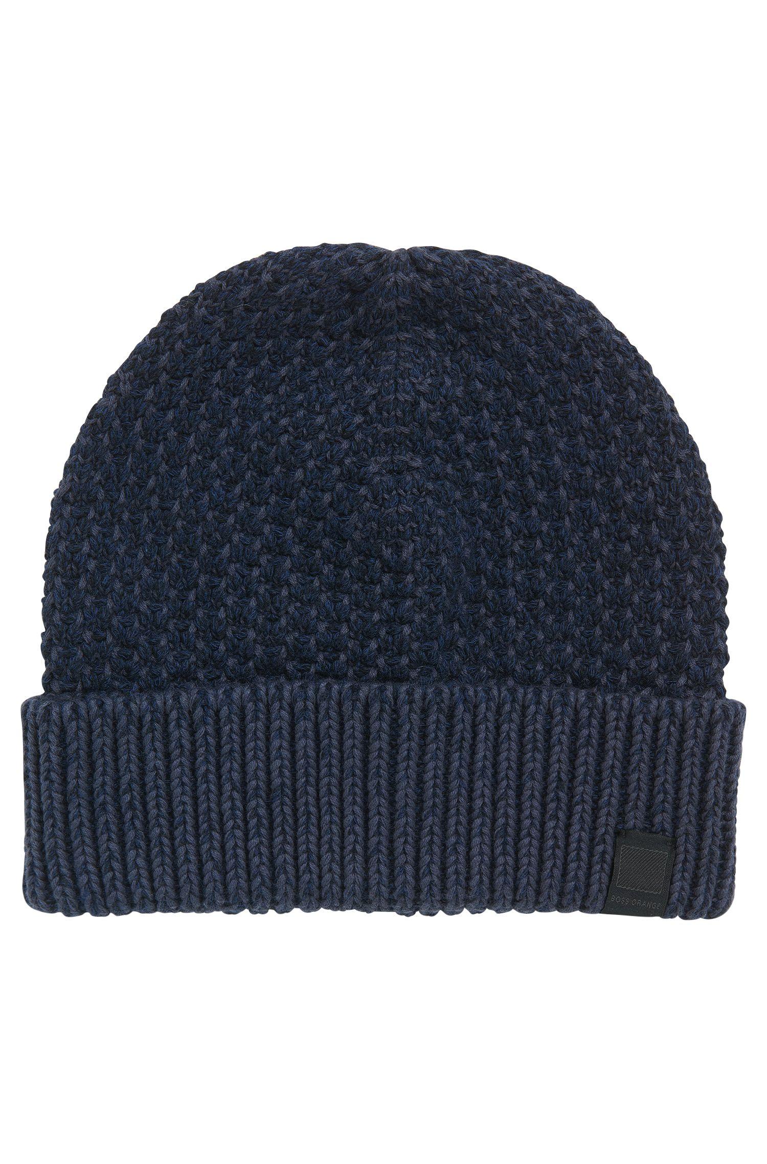 Bonnet en coton à la texture bicolore
