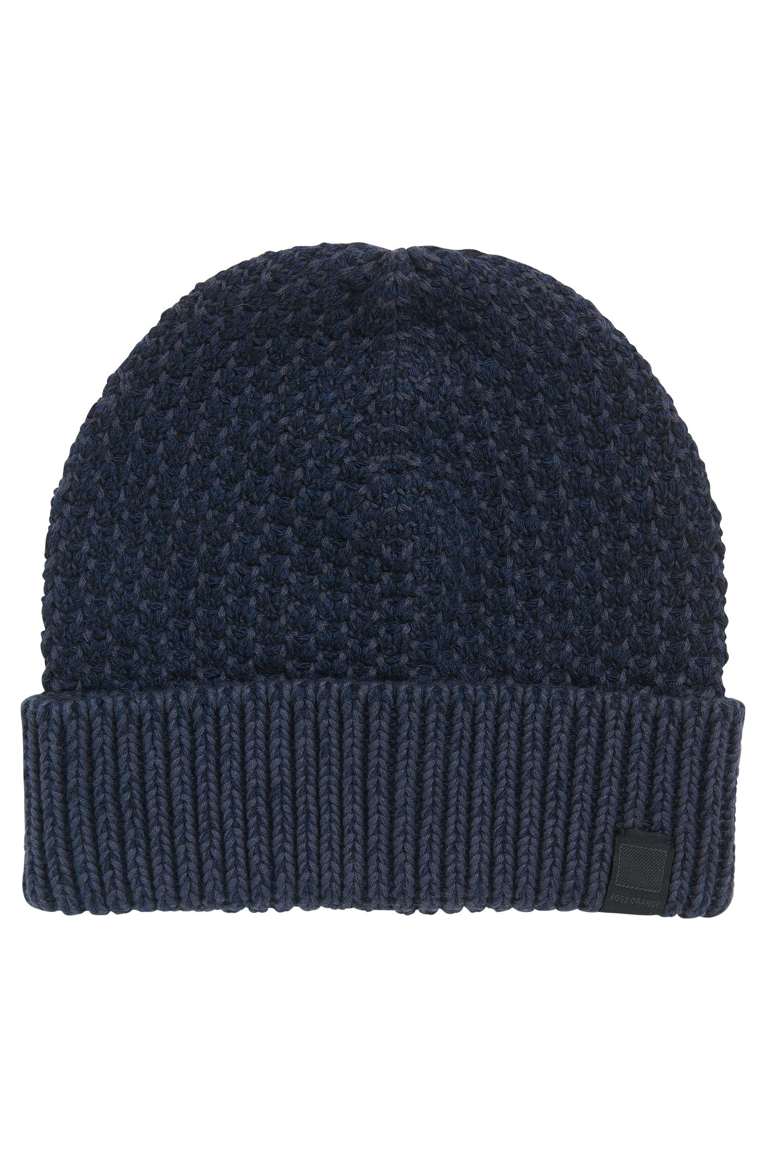 Cotton beanie with two-tone structure