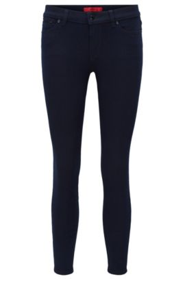 Jeans skinny fit in denim elasticizzato, Blu scuro