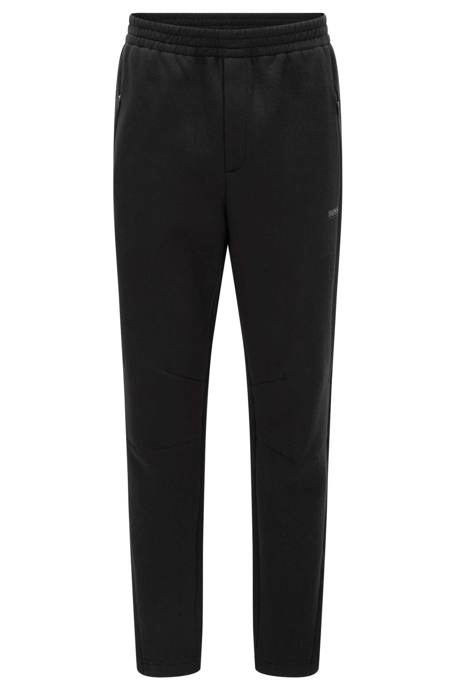 Pantaloni slim fit in tessuto double-face